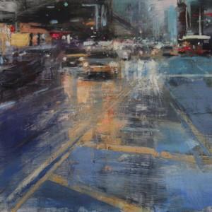 3th Avenue . Oil on canvas. 40x40 cms