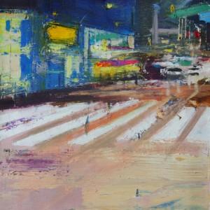 4th Avenue. Oil on canvas. 40x40 cms