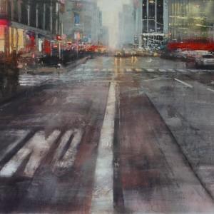 6th Avenue. Oil on canvas. 90x110 cms