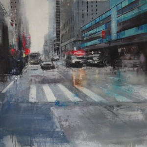 7th Avenue. Oil on canvas. 100x94 cms