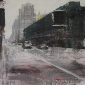 8Th Avenue. 60x60 cms. Oil on canvas