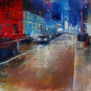 9,30 p.m. Oil on canvas. 50x50 cms