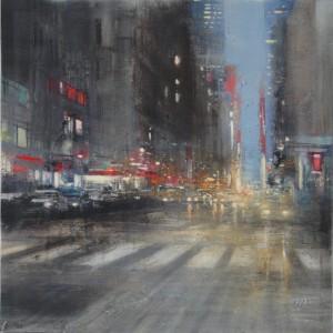 City lights. Oil on canvas. 65x65 cms