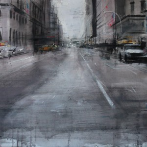 Fifth Avenue. New York. 47x94 cms. Mixed media on paper