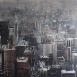 Fog in New York. 160x130 cms. Oleo sobre tabla