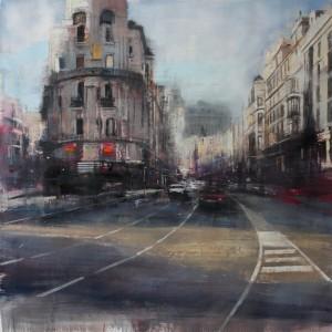 Gran Vía. Madrid. 150x150 cms. Oil on canvas