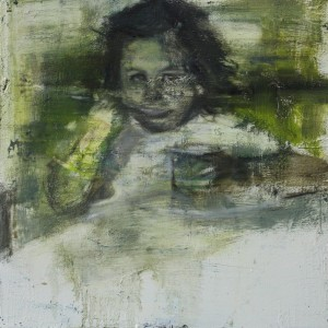 Infancia 1.Oleo sobre tabla.50x50 cms