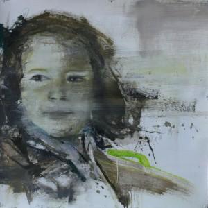 Infancia 3. 50x50 cms.Mixta sobre papel