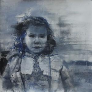 Infancia 4. 60x60 cms.Mixta sobre papel