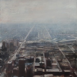 Light Chicago. Oil on panel. 100x100 cms
