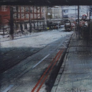Lights and shadows. London. 35x35 cms. Oil on panel