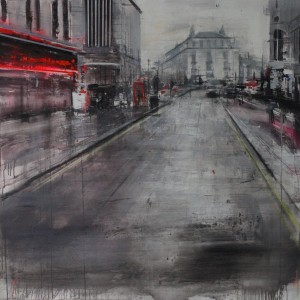 London. 120x120 cms. Mixed media on canvas