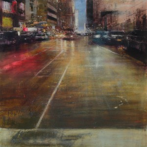 Night. 7 th Avenue. Oil on canvas. 100x100 cms