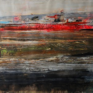 Red landscape. 145x135 cms