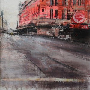 Shafstbury Avenue II. 93x93 cms. Mixed media on paper