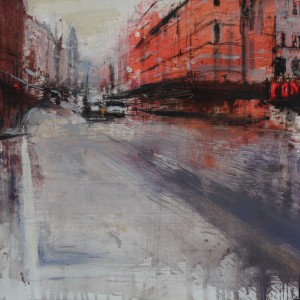 Shafstbury Avenue. 35x35 cms. Mixed media on paper