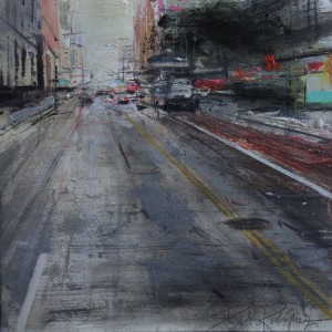 Sixth Avenue. New York.35x35 cms. Mixed media on paper