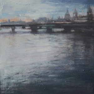 Thames IV. Oil on panel. 35x35 cms