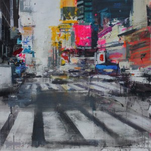 Times Square VI.Mixed media on canvas.60x60 cms