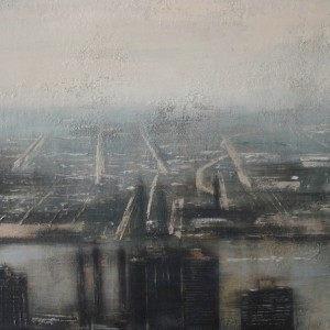 View from Empire State. Oil on panel. 61x122 cms