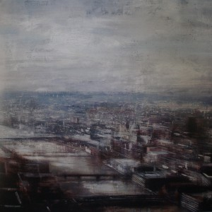 View from the Shard. 150x150 cms. Oil on panel
