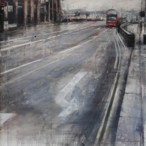 Westminster bridge. 93x93 cms. Mixed media on paper.