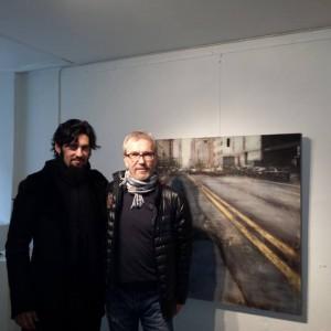 Con el galerista Lars Backlund.