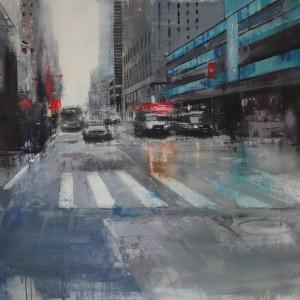 7th Avenue. 100x94 cms